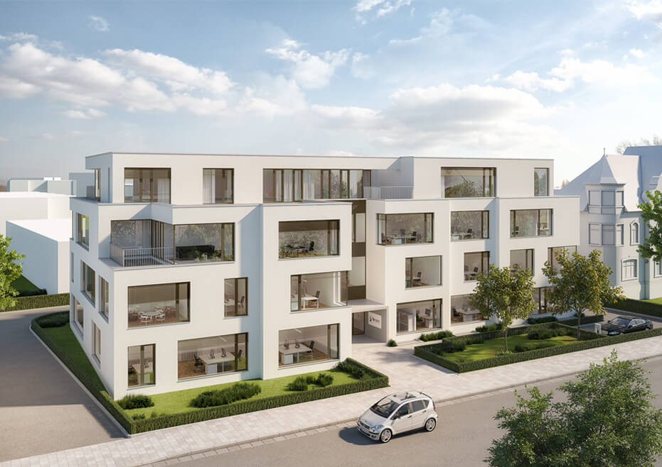 Visualization of b-next's new headquarters in Herford